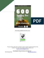 Sww600 Spelling Bee Words 68