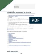 ATO - Research and development tax incentive