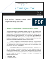Indian Evidence Act - Mains