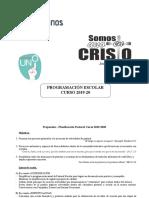 Propuesta Pastoral Escolar 19-20 Sept 2019