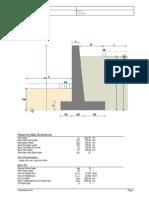 Design of Retaining Wall as Eurocode