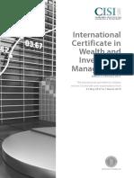 International Certificate in Wealth
