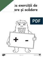 Adunari si scaderi - Fise de lucru.pdf