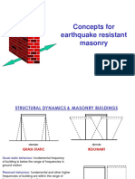 concept for earthquake resistance masonary