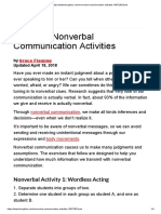 Nonverbal Communication Activities