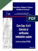 C4 Si 6 Calculul Si Verificarea Imbinarilor Sudate [Compatibility Mode]