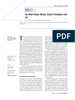 Vascular Wall Shear Stress