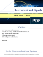 Lecture 1 Telephone Instrument and Signals