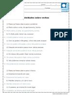 Atividade de Portugues Verbos 4 Ou 5 Ano Respostas