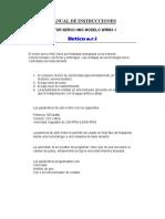 Manual de Instrucciones Motor Servo Wr 561