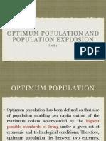 Optimum Population and Population Explosion