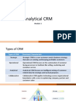 Analytical CRM - 1