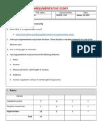 Ged105 - Argumentative Essay