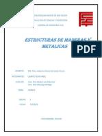 Segundo Avance Estructuras de Madera y Metalicas