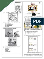 Atividades de Língua Portuguesa 9º Ano