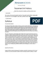 AP Art History Course Outline
