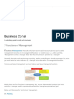 Business Consi_ 7 Functions of Management