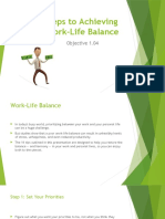 Steps to Achieving Work-Life Balance PPT