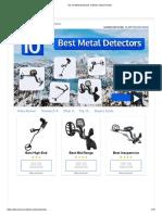 Top 10 Metal Detectors of 2019 _ Video Review