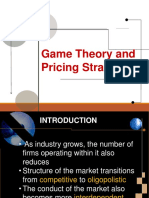 Module 5 -Game Theory and Pricing Strategy