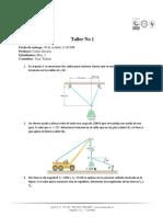 Taller 1 - Vectores Fuerza Equilibrio