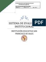 Sistema de Evaluacion. Version II