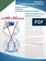 Say No to RO water