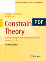 Constraint Theory Multidimensional Mathematical Model Management