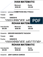 Ticket Para Imprimir
