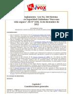 """Bolivia_ Reglamento - Ley No. 264 Sistema Nacional de Seguridad Ciudadana """"Para una vida segura"""", DS Nº 1436, 14 de diciembre de 2012.pdf"""