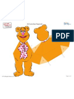 Muppet Fozzie Bear Paper Craft Printable 0710