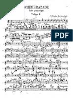 Scheherazade Violin 1 Bowings