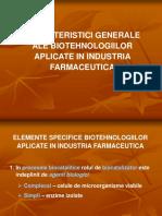 Caracteristici Generale Ale Biotehnologiilor