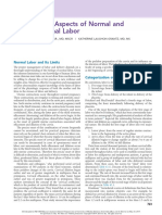 Clinical Aspects of Normal and Abnormal Labor