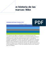 Breve Historia de Las Marcas Nike
