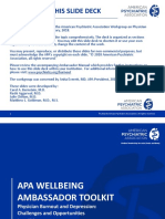APA Well Being Ambassador Toolkit Challenges and Opportunities