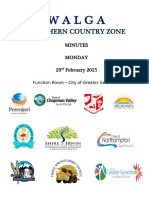 Minutes Northern Country Zone 23 February 2015