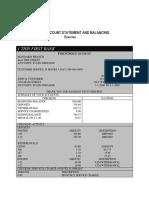 Bank Statement Zip Code