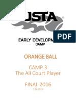 USTA Camp 3 2016ob All Court Player - Curriculum
