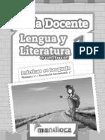 En Construccion Lengua y Literatura 1 Guia Docente