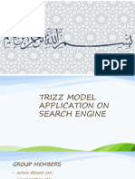 Innovation in search engines with respect to time and trizz model application