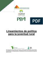 Lineamientos. Política Publica de Juventud Rural.