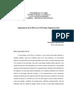 Etica en psicologia organizacional