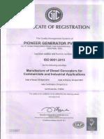 generator cert of reg