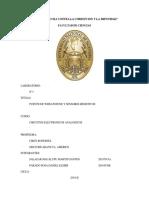 PUENTE DE WHEATSTONE Y SENSORES RESISTIVOS