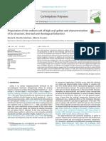 Preparación de La Sal de Sodio de Alta Gellan Acilo y Caracterización de Su Estructura, Los Comportamientos Térmicos y Reológicas