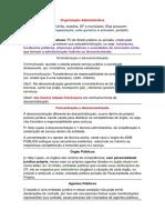 01 Organização Administrativa Administração Direta e Indireta, Centralizada e Descentralizada, Autarquias, Fundações, Sociedades de Economia Mista (2)