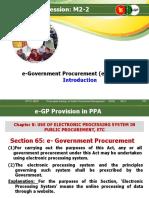 E-Government Procurement System E-GP Intro