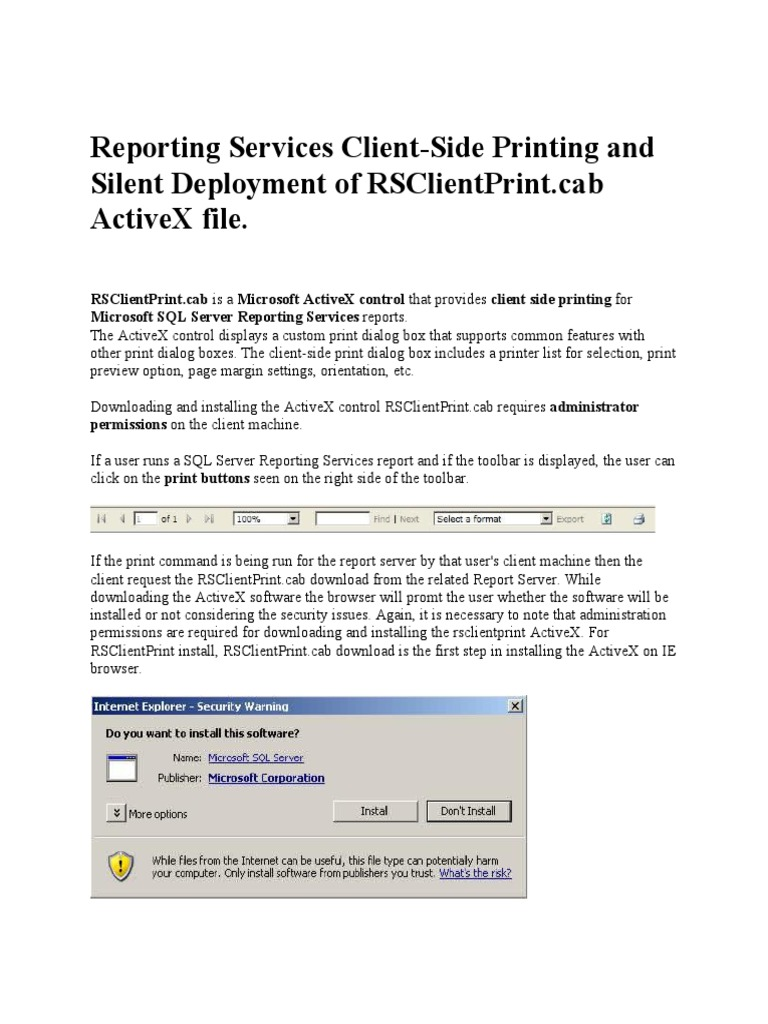 activex control rsclientprint.cab