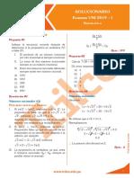 Examen 2019 Uni i Solucionario Matematica